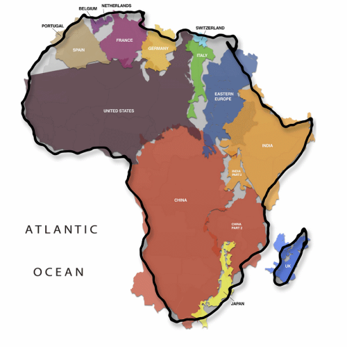 true_size_africa_map