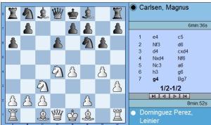 Dominguez vs Carlsen round 2 move 7