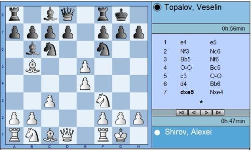 Shirov vs Topalov Round 2 move 7