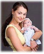 Alexandra and her baby-girl