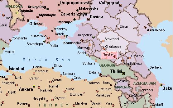 Nalchik Chess Chessalee - Nalchik map