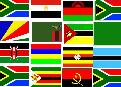 Flags of the African countries taking part in the championships
