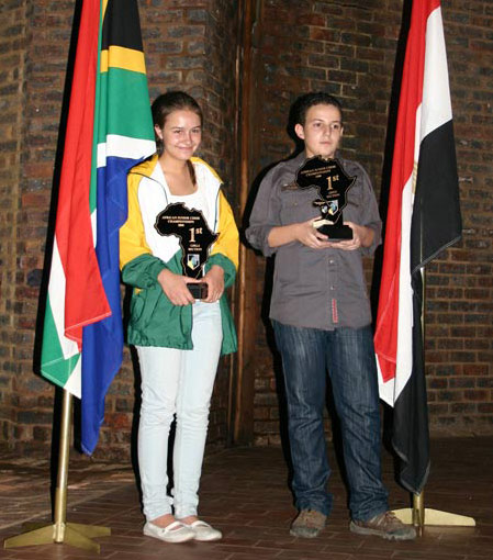 Melissa Greeff and Kareim Wageih - Winners of the African Junior CC 2008_9