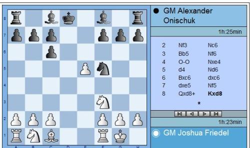 Friedel vs Onischuk round 1 move 8