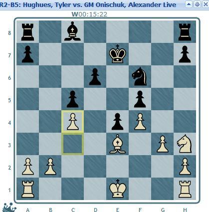 Hughues vs Onischuk round 2 move 15