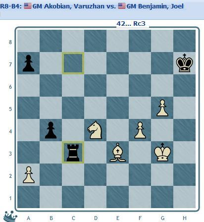 Round 8 Akobian vs Benjamin move 42