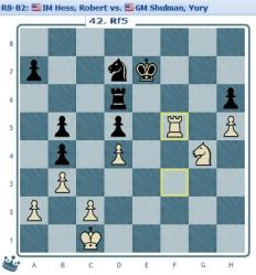 Round 8 Hess vs Shulman move 42