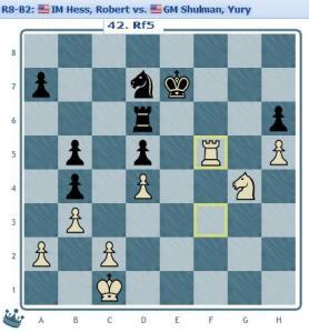 Round 8 Hess vs Shulman move 42