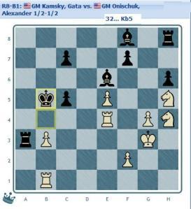 Round 8 Kamsky vs Onischuk end position 1/2