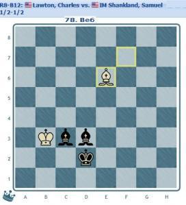 Round 8 Lawton vs Shankland final position 1/2