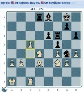 Round 8 Robson vs Sevillano move 41