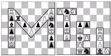 In both problems white moves and mates in two moves