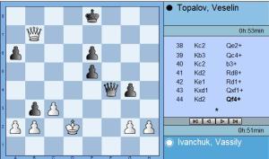 Round 5 Ivanchuk vs Topalov move 44