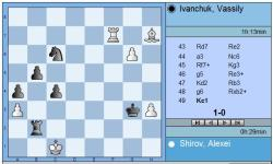 Round 6 Shirov vs Ivanchuk