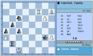 Round 6 Shirov vs Ivanchuk