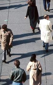 sidewalk people