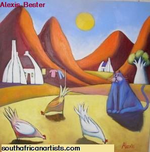 Chicken Art by Alexis Bester