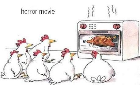 Horror Movie - chicken in microwave
