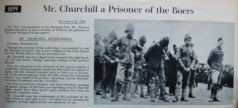 Churchill Captured as POW